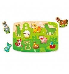 HAPE Farmyard Peg Puzzle -