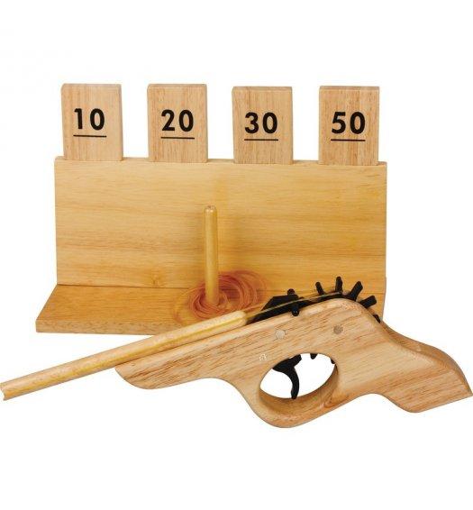 Wooden Rubber Band Gun & Target - 05001