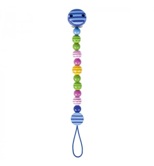 Heimess Soother/Dummy Chain Striped Beads - 732320