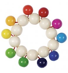 Heimess Touch Ring Elastic Rainbow Beads -