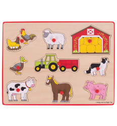 Bigjigs Lift Out Puzzle - Farm - BJ259