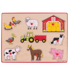 Bigjigs Lift Out Puzzle - Farm -
