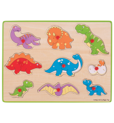 Bigjigs Lift Out Puzzle - Dinosaurs -