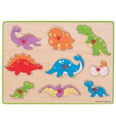 Bigjigs Lift Out Puzzle - Dinosaurs -