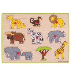 Bigjigs Lift Out Puzzle - Safari -