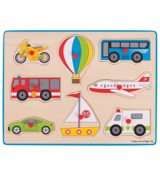 Bigjigs Lift Out Puzzle - Transport -