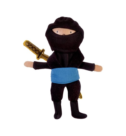 Fiesta Crafts Blue Ninja Finger Puppet - g - 1066