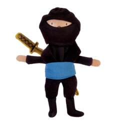 Fiesta Crafts Blue Ninja Finger Puppet - g - 1066