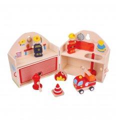 Bigjigs Mini Fire Station Playset -