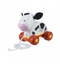 Orange Tree Toys Cow Pull Along -