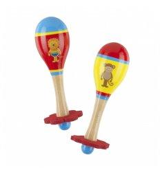 Orange Tree Toys Lion & Monkey Maraca Set -
