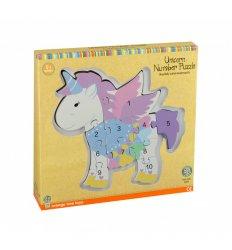 Orange Tree Toys Unicorn Number Puzzle -