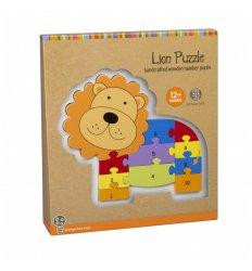 Orange Tree Toys Lion Number Puzzle -