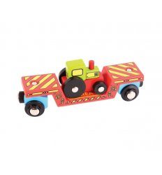 Bigjigs Tractor Low Loader - Bigjigs Rail -