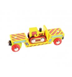 Bigjigs Bulldozer Low Loader - Bigjigs Rail -