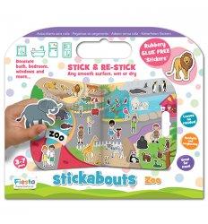 Fiesta Crafts Stickabouts - Zoo - T-2874