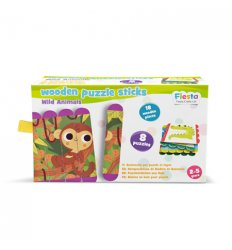 Fiesta Crafts Puzzle Sticks - Wild Animals -