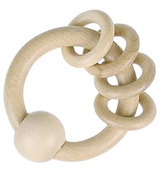 Heimess Touch Ring With 4 Rings Natural Wood - 730800