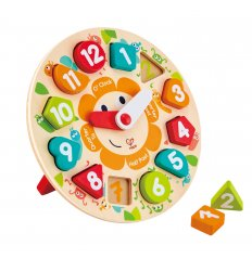 HAPE Chunky Clock Puzzle - Hape -