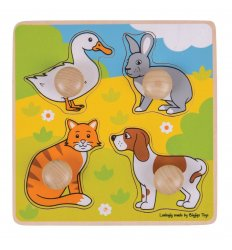 Bigjigs My First Peg Puzzle - Pets  -