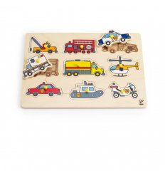 HAPE Emergency Vehicles Peg Puzzle -