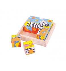 Bigjigs Safari Cube Puzzle - Bigjigs -