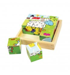 Bigjigs Animal Cube Puzzle - Bigjigs -