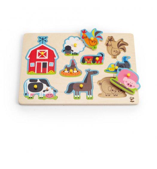 HAPE Farm Animals Peg Puzzle - E1402