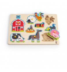 HAPE Farm Animals Peg Puzzle -