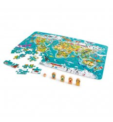 HAPE 2 in 1 World Tour Puzzle and Game -