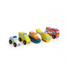 Bigjigs Rescue Vehicle Set  - T0506