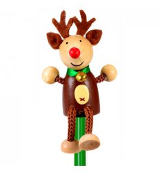 Fiesta Crafts Character Pencil - Reindeer  -