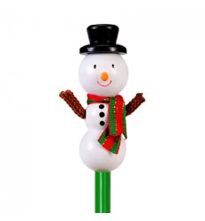 Fiesta Crafts Character Pencil - Snowman -