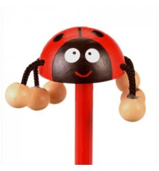 Fiesta Crafts Character Pencil - Ladybird -