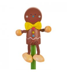 Fiesta Crafts Character Pencil Gingerbread Man -