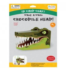Fiesta Crafts Crocodile 3D Mask Card Craft -