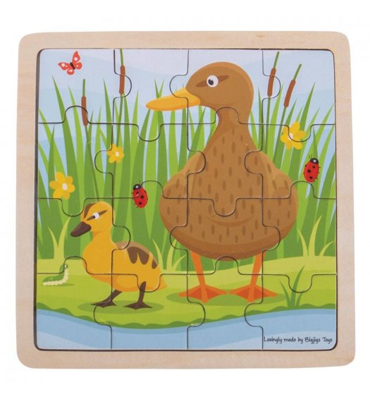 Bigjigs Duck and Duckling Wooden Jigsaw Puzzle - BJ494