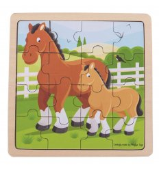 Bigjigs Horse and Foal Wooden Jigsaw Puzzle -