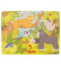 Bigjigs Tray Puzzle - Jungle - Bigjigs -