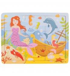 Bigjigs Tray Puzzle - Mermaid - Bigjigs -