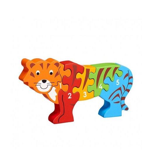 Lanka Kade Lanka Kade Tiger 1-5 Wooden Jigsaw - Fairtrade - NJ12