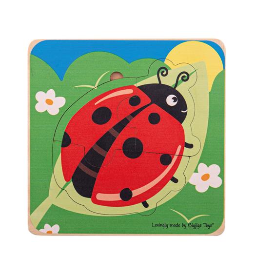 Bigjigs Lifecycle Layer Puzzle - Ladybug - Bigjigs - 33029