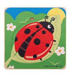 Bigjigs Lifecycle Layer Puzzle - Ladybug - Bigjigs -