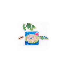 Bigjigs Lifecycle Layer Puzzle Frog - Bigjigs -