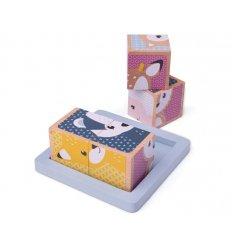 Bigjigs Woodland Cube Puzzle - FSC 100% - Bigjigs -