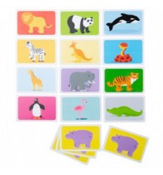 Bigjigs Snap Card Game - Wild Animals - Bigjigs -