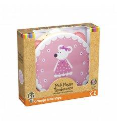 Orange Tree Toys Tambourine Pink Mouse -