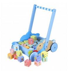 Orange Tree Toys Block Trolley - Peter Rabbit -