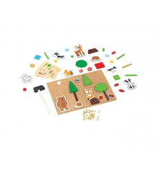 Bigjigs Deluxe Pin a Shape Woodland -