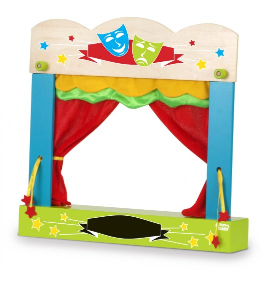 Fiesta Crafts Carry-Case Finger Puppet Theatre - T-2749